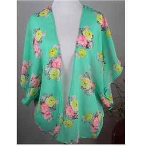 Windsor sheer floral kimono cover up
